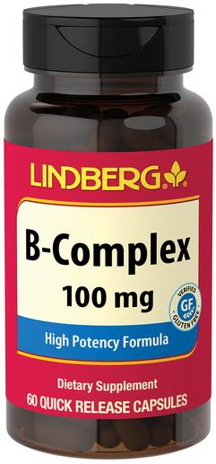 B-Complex 100 mg, 60 Capsules