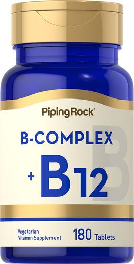 Complexo B Plus vitamina B-12, 180 Comprimidos