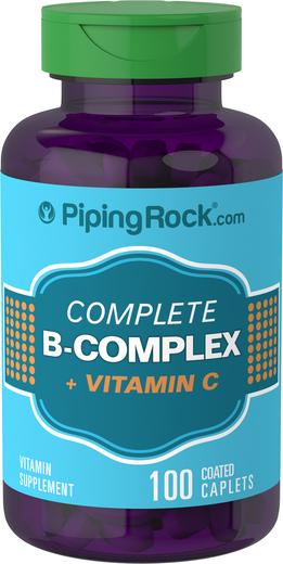 Zestaw witamin z grupy B plus witamina C 100 Powlekane kapsułki