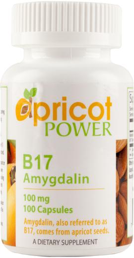 Amigdalina B17 , 100 mg, 100 Cápsulas