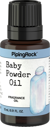 Olejek aromatyczny o zapachu pudru dla niemowląt 1/2 fl oz (15 mL) Butelka z zakraplaczem