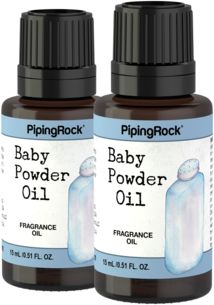 Baby Powder Fragrance Oil 2 Dropper Bottles x 1/2 oz (15 ml)