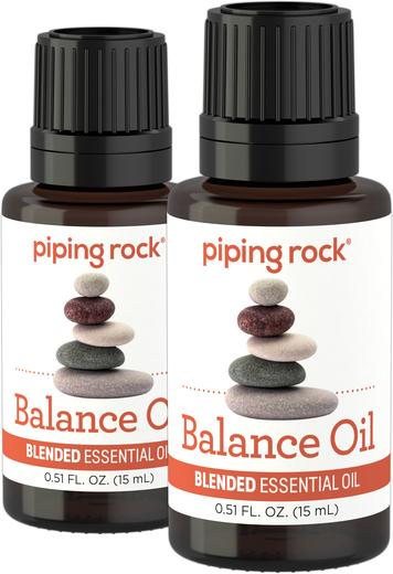Olejek eteryczny przywracający równowagę (GC/MS Sprawdzono) 1/2 fl oz (15 mL) Butelka z zakraplaczem