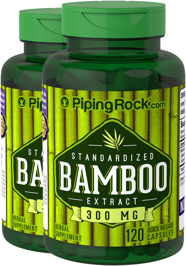 Bamboo Extract Supplement 300 mg 2 Bottles x 120 Capsules