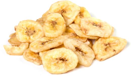 Chips de banana biológica açucaradas, 1 lb (454 g) Saco