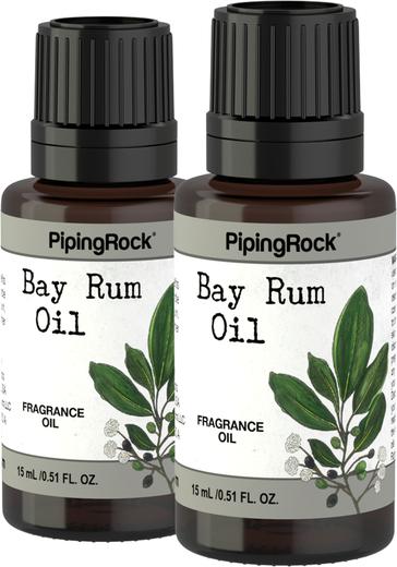 Óleo perfumado de Bay Rum, 1/2 fl oz (15 mL) Frasco conta-gotas, 2  Frascos conta-gotas