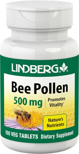 Bee Pollen, 500 mg, 100 Vegetarian Tablets