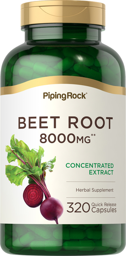 Beet Root, 8000 mg, 320 Quick Release Capsules