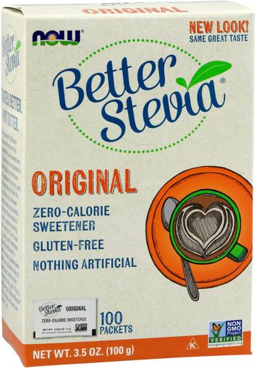 Better Stevia w paczkach 3.5 oz (100 g) Pudełko