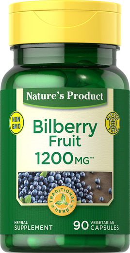 Bilberry Fruit 1200 mg, 90 Capsules