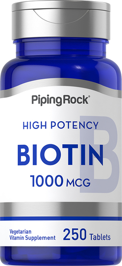 Biotina , 1000 mcg, 250 Comprimidos