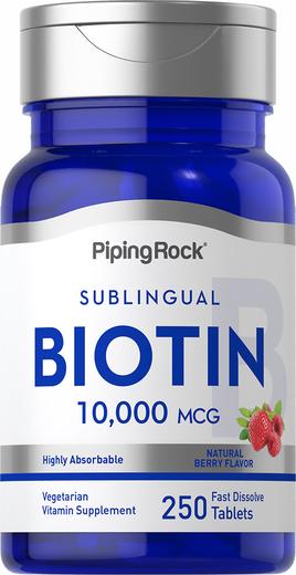 Biotin, 10,000 mcg, 250 Tablets