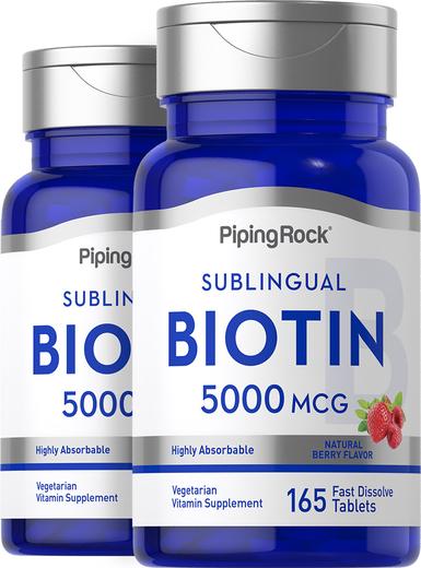 Biotin Fast Dissolve Tablets, 5000 mcg, 165 Fast Dissolve Tablets