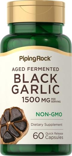 Black Garlic 1500 mg (per serving), 60 Capsules