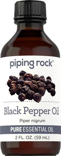 Olejek eteryczny z czarnego pieprzu o czystości (GC/MS Sprawdzono) 2 fl oz (59 mL) Butelka
