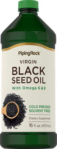Black Seed Cumin Oil - Cold Pressed 16 fl oz (473 mL) Bottle