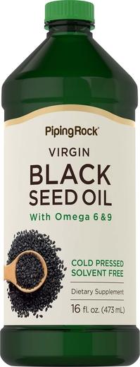 Aceite de semillas negras (granos de comino) - Prensado en frío 16 fl oz (473 mL) Botella/Frasco