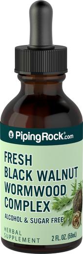 Extracto líquido de complejo de ajenjo y nuez negra 2 fl oz (59 mL) Frasco con dosificador