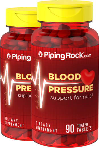 Blood Pressure Support Formula Supplement 2 Bottles x 90 Tablets