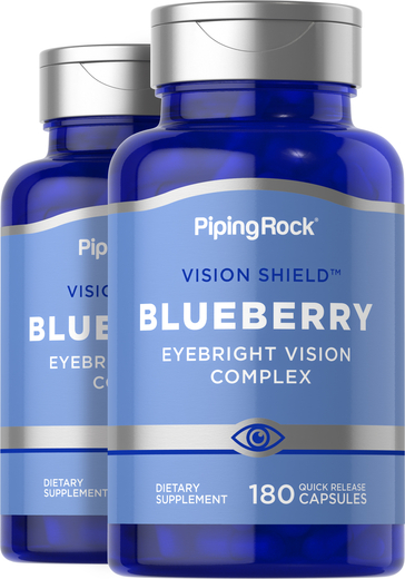 Blueberry Supplements for Eyes 2 Bottles x 180 Capsules