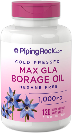 Borage Oil (GLA) 1,000 mg, 120 Softgels