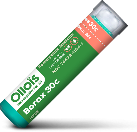 Borax 30c Homeopático Dores de Garganta (úlceras bucais) 80 Granulados