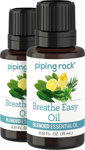 Mistura de óleo essencial facilitadora da respiração, 1/2 fl oz (15 mL) Frasco conta-gotas, 2  Frascos conta-gotas