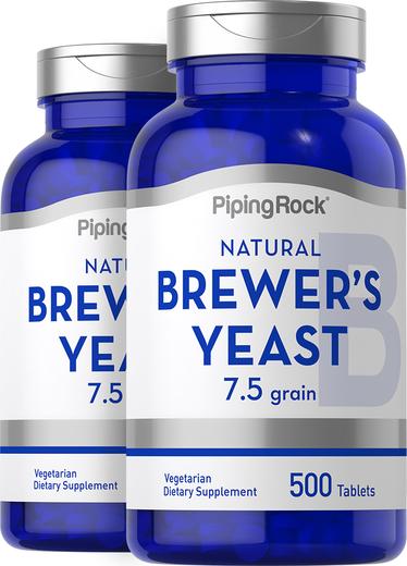 Levedura de cerveja , 500 mg, 500 Comprimidos, 2  Frascos