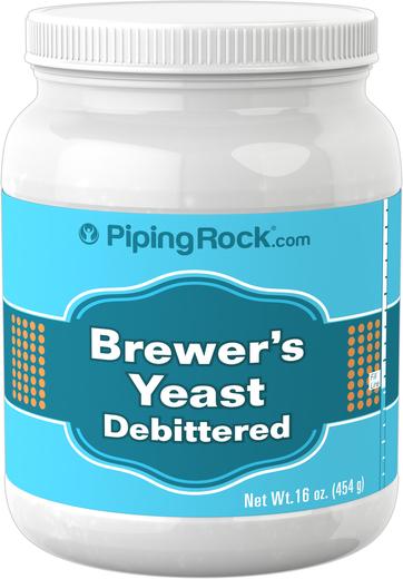 Proszek z drożdży gorzelniczych (usunięty gorzki smak) 1 lb (454 g) Butelka