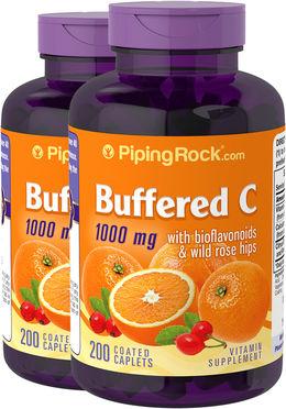 Buforowana witamina C 1000 mg z bioflawonoidami i dziką różą 200 Powlekane kapsułki