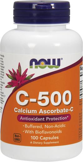 Buffered C-500 Calcium Ascorbate-C, 100 Capsules
