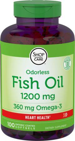 Olio di pesce Omega-3 rivestimento anti eruttazione 100 Capsule molli