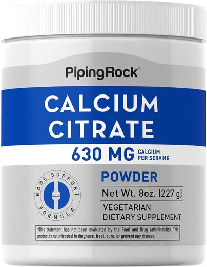 Pó de Citrato de Cálcio 8 oz (227 g) Frasco