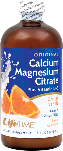 Calcium Magnesium Citrate plus D3 Liquid (Orange Vanilla), 16 fl oz