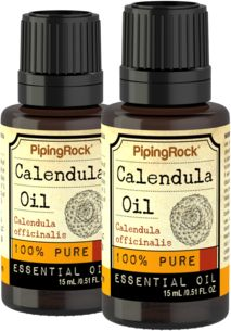 100% Pure Calendula Essential Oil 2 Dropper Bottles x 1/2 oz (15 ml)