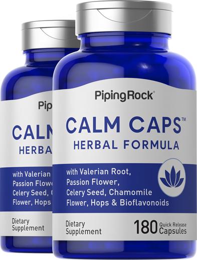 Calm Caps, 2 Bottles x 180 Capsules