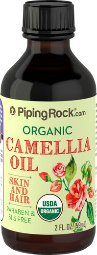 Olej kameliowy o 100% czystości, tłoczony na zimno (Organiczne) 2 fl oz (59 mL) Butelka