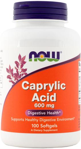 Ácido caprílico , 600 mg, 100 Cápsulas gelatinosas