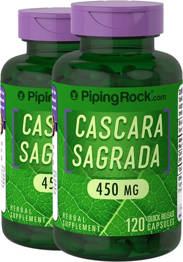 Cascara Sagrada 450 mg 2 x 120 Capsules