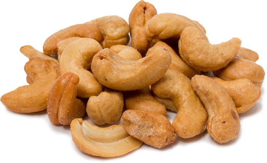 Cashews Roasted Whole & Salted 1 lb (454 g) ถุง