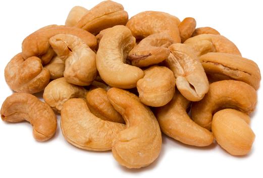 Ristede cashewnødder - hele og usaltede 1 lb (454 g) Pose