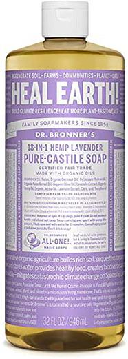 Pure Castile Liquid Soap (Hemp Lavender), 32 fl oz (946 mL) Bottle