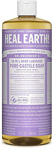 Dr Bronner's  Castile Lavender Soap 32 fl oz (946 mL) Bottle