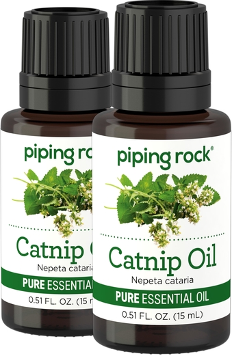 Catnip Pure Essential Oil (GC/MS Tested), 1/2 oz (15 ml) x 2 Bottles
