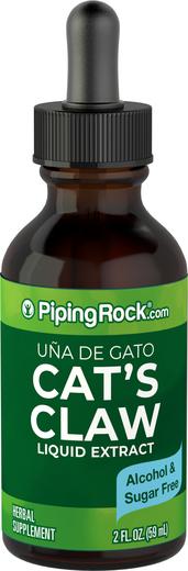 キャッツ クロー リキッド エキス (ウーニャ デ ガト)、アルコール無添加 2 fl oz (59 mL) スポイト ボトル