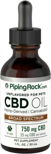 Olej CBD dla zwierząt 1 fl oz (30 mL) Butelka z zakraplaczem