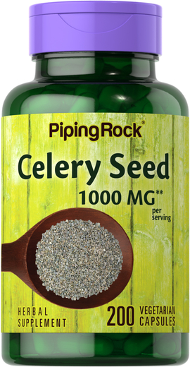 Celery Seed Extract 1000 mg (per serving), 200 Capsules