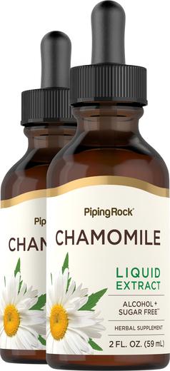 Chamomile Flowers Liquid Extract (Alcohol Free), 2 fl oz Dropper Bottle x 2 Bottles