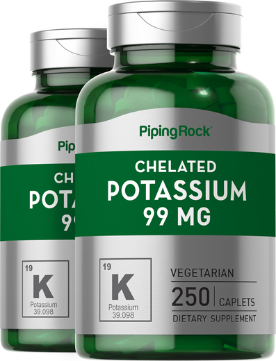 Chelated Potassium Gluconate 99 mg 2 x 250 Capsules