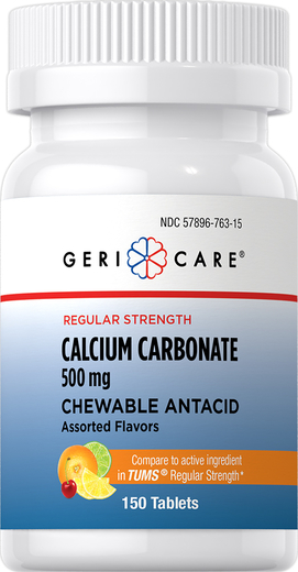 Chewable Antacid Calcium Carbonate 500 mg 150 Chewable Tablets